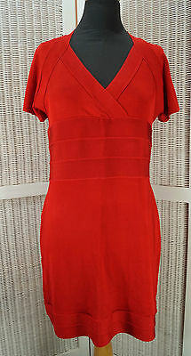 £24.95 • Buy STAR By JULIEN MACDONALD Red Stretch Wiggle Pencil Dress UK14 Sexy Cut-Out Back