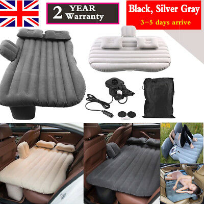 Inflatable Car Bed Back Seat Mattress Air Airbed Travel  Sleep + Pump/2 Pillow • 15.41£