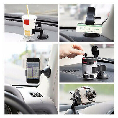 Universal Car 360°Rotating Phone Windshield Black GPS Mount Holder Accessories • 2£