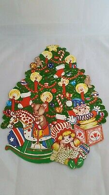 $ CDN8 • Buy ADORABLE Vintage Christmas DIE CUT WALL DECORATION. Double Sided. A Must See!