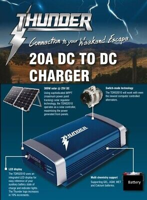 AU219.95 • Buy NEW Thunder 20A DC To DC MPPT 300w Smart Battery Charger Solar TDR02020 DUAL