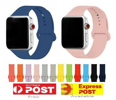 AU4.80 • Buy Silicone Replacement Strap Band For Apple Watch 7 6 5 4 3 IWatch 38/40mm 42/44mm
