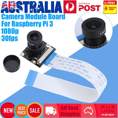 AU24.26 • Buy 5MP Sensor Camera Module Board With 1080p Lens Night Vision For Raspberry Pi 3