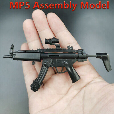 £2.30 • Buy 1/6 HK MP5 Submachine Toy Gun Assembly Model Double Cartridge Fit 12'' Figure