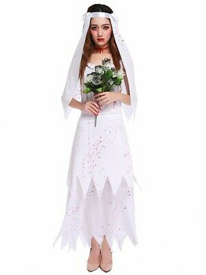 Zombie Bride Fancy Dress Costume • 17.99£