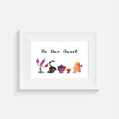 Beauty And The Beast, Print, Poster, Disney, Quote, Wall Art, Home Decor, Guest • 4.14£