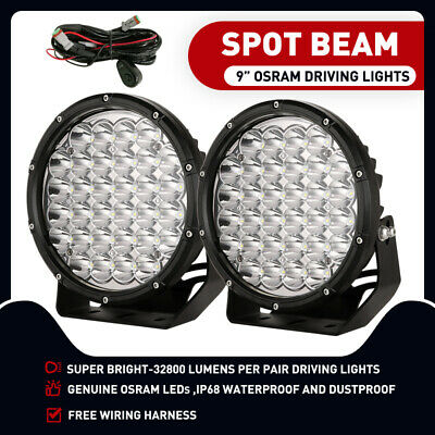 AU108.95 • Buy 9 Inch 99999W ROUND LED SPOT Driving Lights OSRAM Off Road Spotlights Foglight