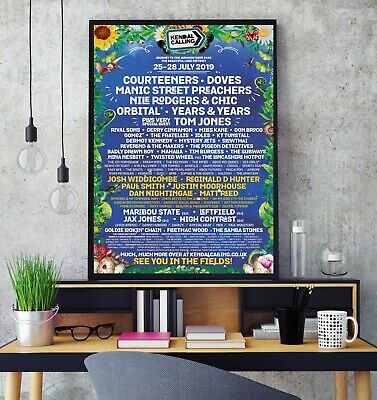 Kendal Calling Festival 2019 Line Up Poster Professional Grade Gloss Photo Print • 7.49£