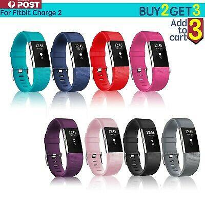 AU4.65 • Buy For Fitbit Charge 2 Bands Silicone Replacement Wristband Watch Strap