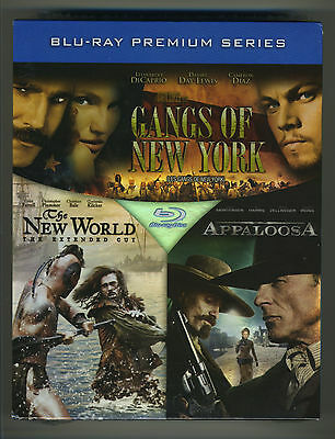 Gangs Of New York/The New World/Appaloosa Blu Ray OOP Premium Series Box Set NEW • 26.33£