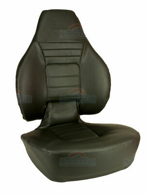 Boat Seat Helm Captain Fishing Chair Folding Springfield 1041602 BLACK • 146.40£