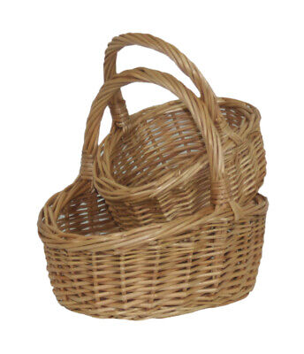 Wicker Childs Flower Girl Basket Bridesmaid Egg Collection Childs Girls Buff • 6.99£