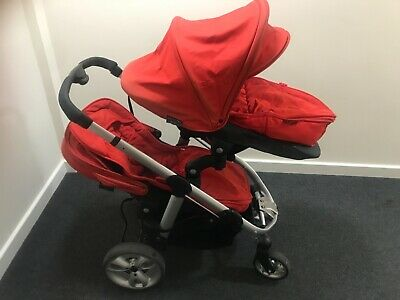 ICandy Apple 2 Pear Red Double - With Footmuffs - Used  • 180£