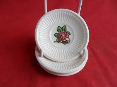 £9.50 • Buy Wedgwood, Moss Rose, 4 X Butter Pats Or Small Dishes