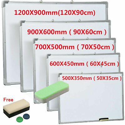 Magnetic Whiteboard Small Large White Board Dry Wipe Notice Office School Home • 35.99£