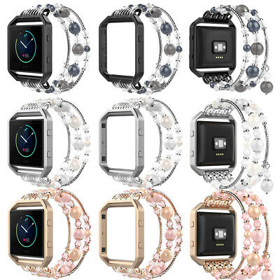 AU22.99 • Buy Replacement Fashionable Elastic Bracelet Band Strap+Frame For Fitbit Blaze Watch
