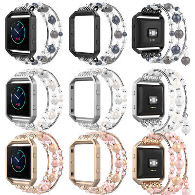 AU21.99 • Buy Replacement Fashionable Elastic Bracelet Band Strap+Frame For Fitbit Blaze Watch
