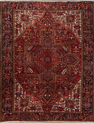 £4371.79 • Buy Palace Size Geometric Oriental Heriz Rug Old Antique Collectible Carpet 12 X 14