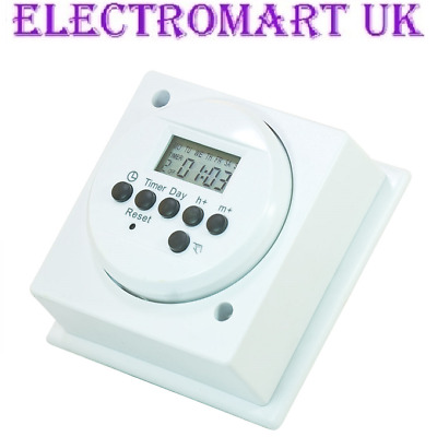 24 Hour Display Digital Immersion Heater Timer Time Switch 16a 4000w  • 15.90£
