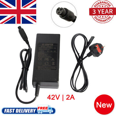 42V 2A UK Plug Charger Power Adapter For Segway/Hoverboard Balance Board Top • 6.99£