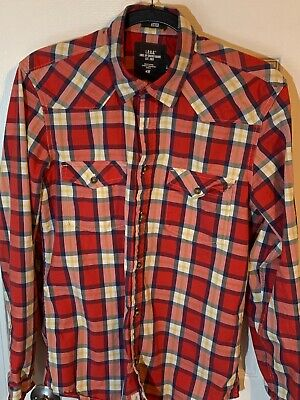 Label Of Graded Goods By H&M Mens Shirt Long Sleave Button Front  Medium • 6.99$