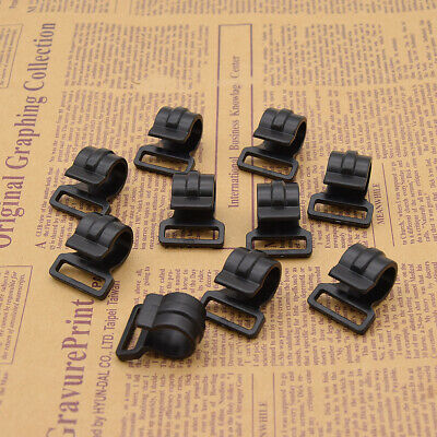 10x Black Outdoor Camping Tent Pole Clips Plastic For Tent Hook Clip Supplies UK • 4.32£