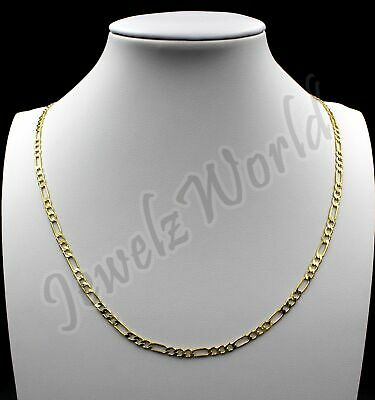 $109.99 • Buy 10K Solid Yellow Gold Figaro Chain Link Pendant Necklace 16  18  20  22  24  30