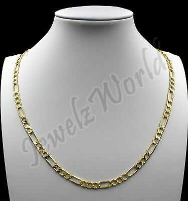$129.99 • Buy 10K Solid Yellow Gold Figaro Link Chain Necklace 2.5MM 16  18  20  22  24  30