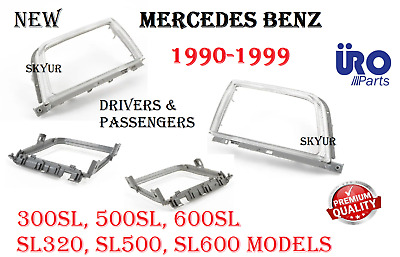 $113.33 • Buy Left & Right Headlight Door Trim Ring Bezel Rim Set For Mercedes R129 SL Models