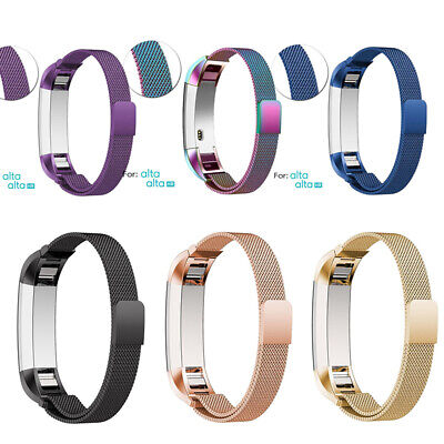 AU1.35 • Buy Stainless Steel Replacement Magnetic Wrist Watch Band Strap For Fitbit Alta / HR