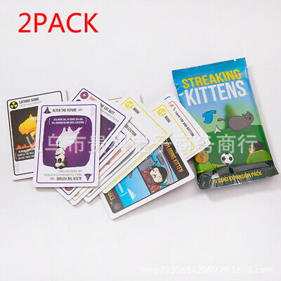 AU17.99 • Buy 2Pack New Streaking Second Expansion Of Exploding Kittens, Multiplayer Card Game