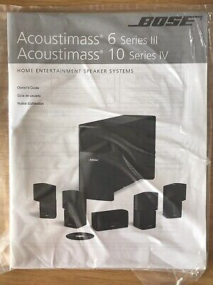Bose  Acoustimass 6 Series III & 10 Series IV Owners Guide • 15£