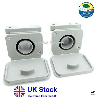 2 X 28mm Caravan Waste Water Outlet Socket Compatible With 28mm Convolute Hose • 10.45£