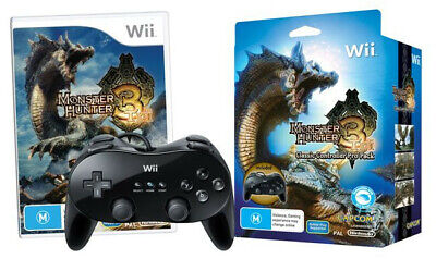 AU99.50 • Buy Monster Hunter 3 Tri Classic Controller Pro Pack Wii Used SAME DAY FREE SHIPPING