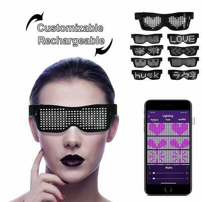 Customizable LED Light Up Glasses,- App Control DIY, Flashing - Display Messages • 17.09£