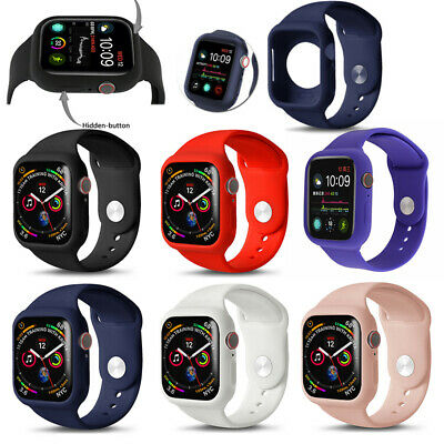 AU15.99 • Buy Apple Watch Series SE 6 5 4 3 2 1 Case Cover+Silicone Band Strap 38/42 40/44mm