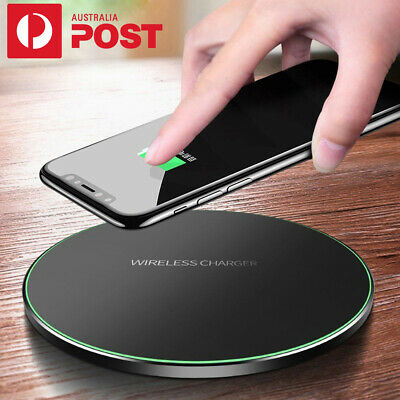 AU15.99 • Buy Qi Fast Wireless Charger Dock For LG G7 G8 V30S V35 V50 ThinQ/Samsung S10/S9/S8