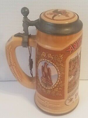 $ CDN31.33 • Buy Vintage 1988 Classic Collection Budweiser Beer Stein With Lid St. Louis Brewery