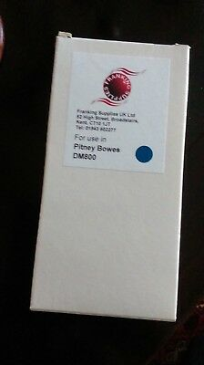 Ink Cartridge For Use Pitney Bowes Dm800 Model In Blue Ink Bnib • 20£