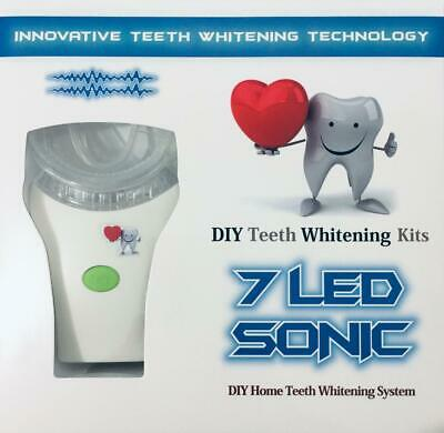 AU34.99 • Buy Teeth Whitening Kit - 7 LED Sonic Light + 3 X 5ml Gel - DIY Teeth Whitening Kits