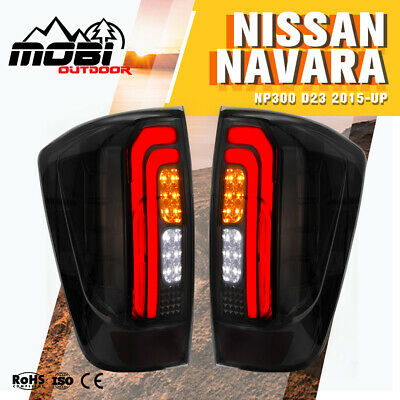 AU179.99 • Buy 2X LED Tail Lights For NISSAN NAVARA NP300 D23 2015-UP Smoked Black Rear Lamp