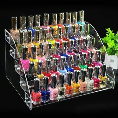 Nail Polish Rack Acrylic Clear Makeup Retail Display Stand Organizer 2-7 Tier • 9.99£