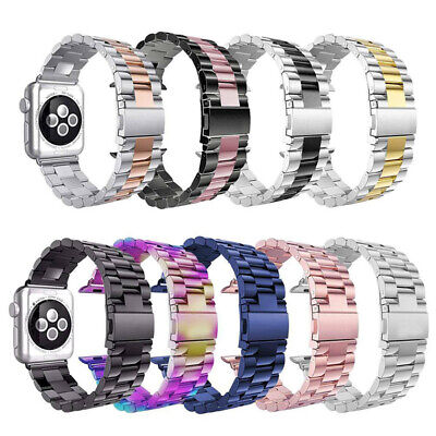 AU18.99 • Buy Apple Watch Band Series SE 6 5 4 3 2 1 Stainless Steel Strap IWatch Band 40 44mm