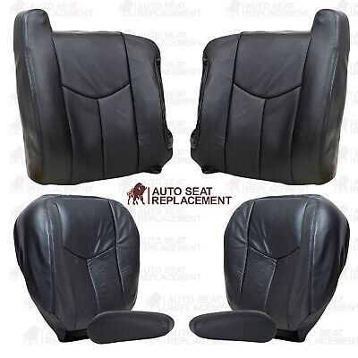 $539 • Buy 2003 2004 2005 2006 2007 Chevy Silverado & Sierra Leather Seat Covers Dark Gray