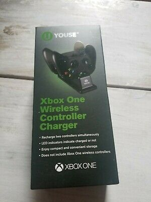 U Youse Dual Wireless Controller Charger Xbox One & One S Recharging Station NIB • 7$