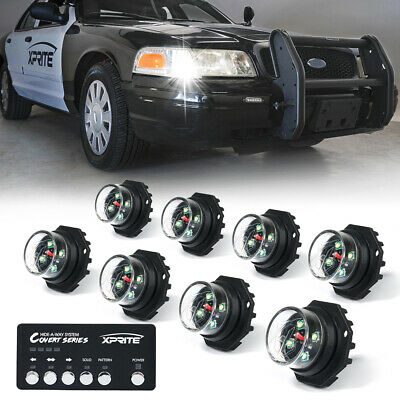 $110.49 • Buy Xprite White 8 Pieces Hide-A-Way LED Strobe Lights Hazard Marker For Truck Jeep