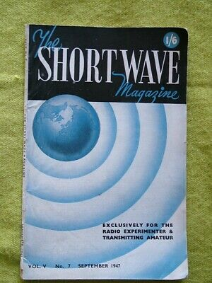 £7.49 • Buy The Short Wave Magazine / Sept 1947 / New Amateur Frequency Allocations