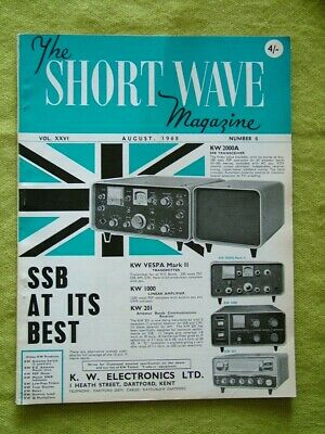 The Short Wave Magazine / Aug 1968 / Am/cw Transmitter For Beginners • 7.49£