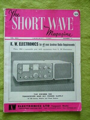 The Short Wave Magazine / Jan 1965 / Mini-halo Aerials For Mobile • 7.49£