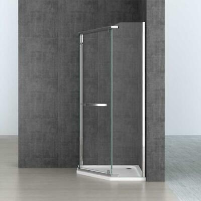 Pentagonal 8mm Safety Hinged Clear Glass Shower Enclosure • 249.90£